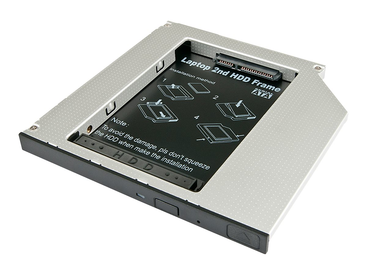 Lindy Ultra Slim SATA III HDD Caddy - Speichereinschubadapter - 5,25 Zoll Slime Line auf 2,5 Zoll X 1/8H (13,3 cm Slim Line auf 6,4 cm)