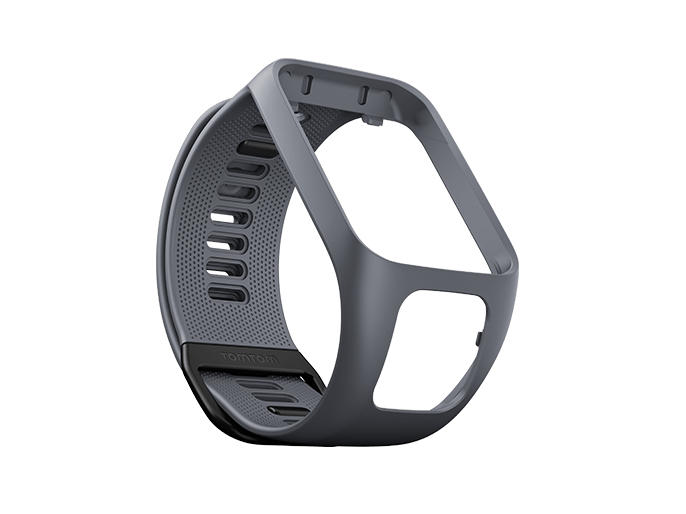 TomTom Uhrarmband - Grau - für TomTom Runner 2, Runner 2 Cardio, Runner 2 Cardio + Music, Runner 2 Music