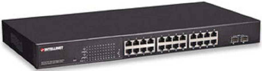 Intellinet 560559 Managed network switch Energie Über Ethernet (PoE) Unterstützung Schwarz Netzwerk-Switch