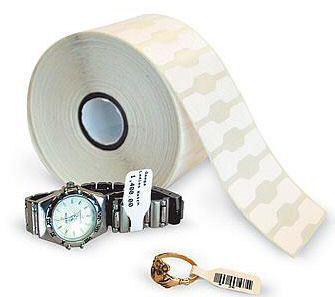 Zebra 8000D Jewelry - Polypropylen (PP) - permanenter Acrylklebstoff - weiß - 55.88 x 12.7 mm 21060 Etikett(en) (6 Rolle(n)