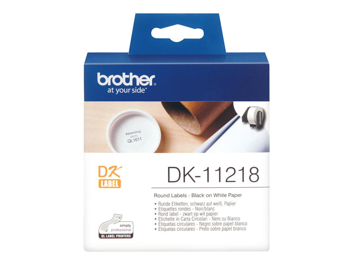Brother DK-11218 - Schwarz auf Weiß