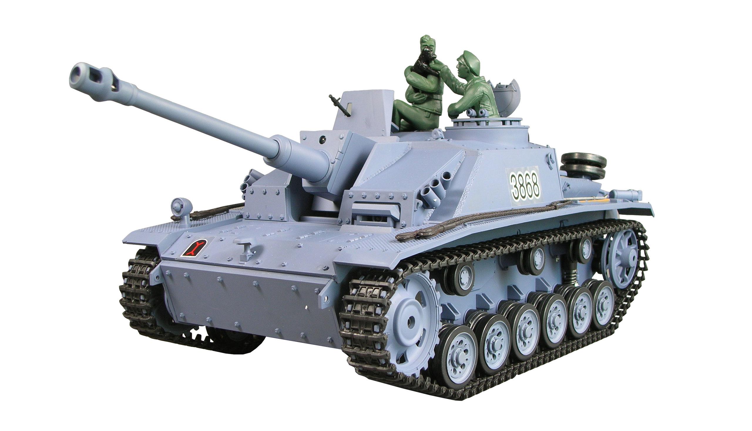 Amewi Sturmgeschütz III G - Funkgesteuerter (RC) Panzer - Elektromotor - 1:16 - Betriebsbereit (RTR) - Junge - 14 Jahr(e)