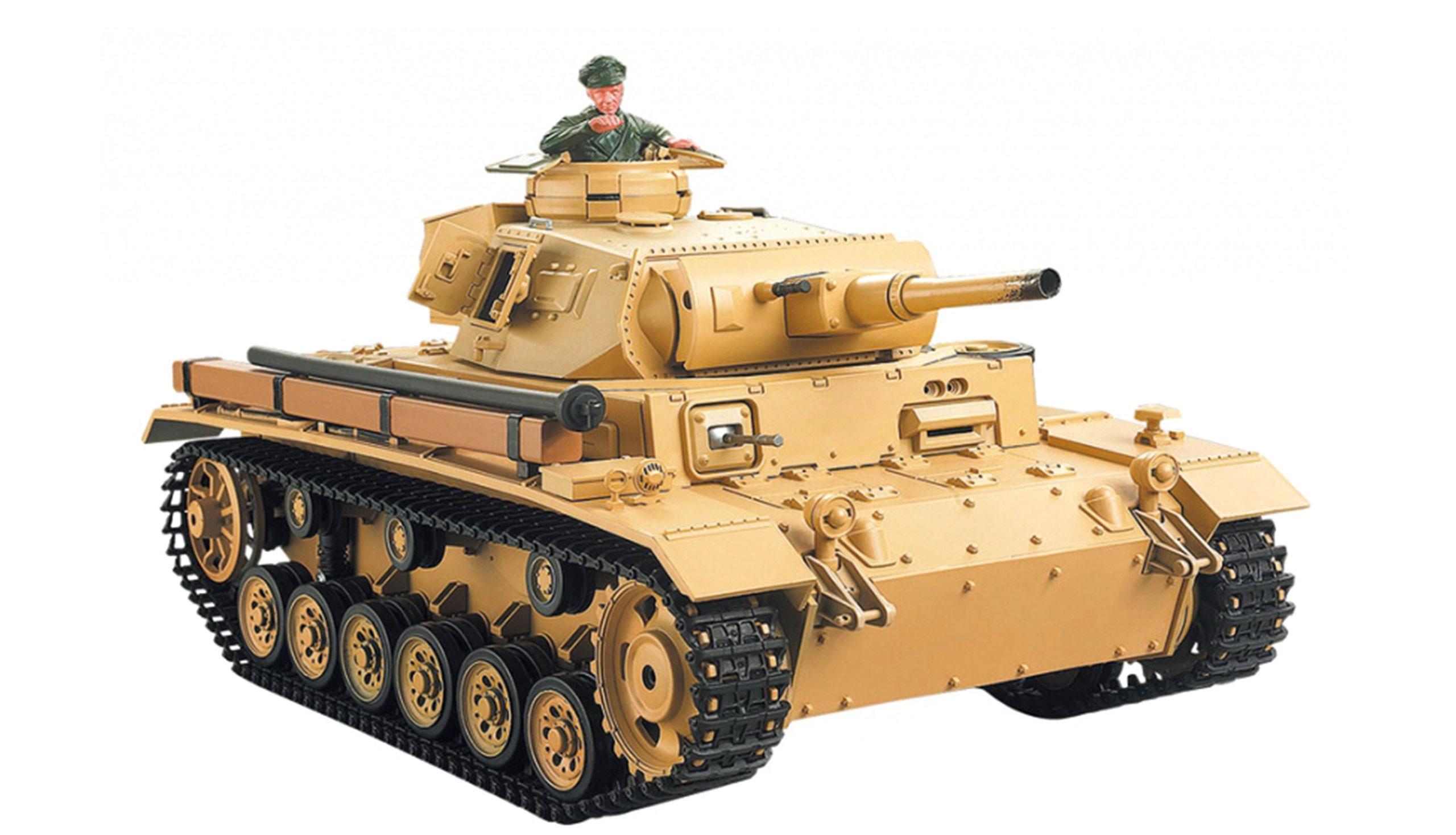Amewi 23064 - Funkgesteuerter (RC) Panzer - Elektromotor - 1:16 - Betriebsbereit (RTR) - Biege - 2,4 GHz