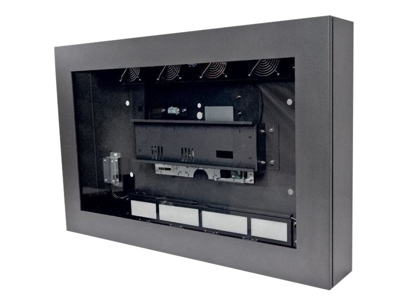 """AG Neovo LOC-55 - Gehäuse für LCD-Display - verriegelbar - Glas, Stahl - Anthrazit - Bildschirmgröße: 139.7 cm (55"""")"""