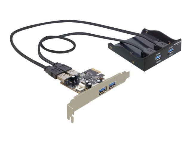 "Delock Front Panel 8,89cm/3,5"" 2x USB 3.0 Delock + USB 3.0 PCIe Card"