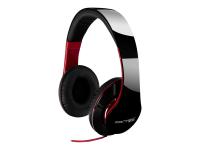 SHP-250AJ Ohraufliegend Kopfband Schwarz - Rot