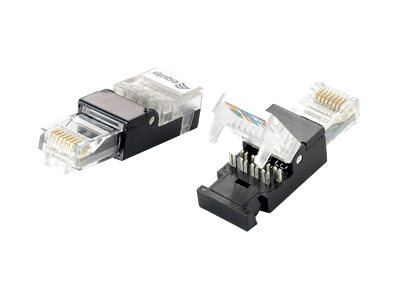 Digital Data Communications Netzwerkanschluss - RJ-45 (M) - ungeschirmt - CAT 5e - Schwarz (Packung mit 2)