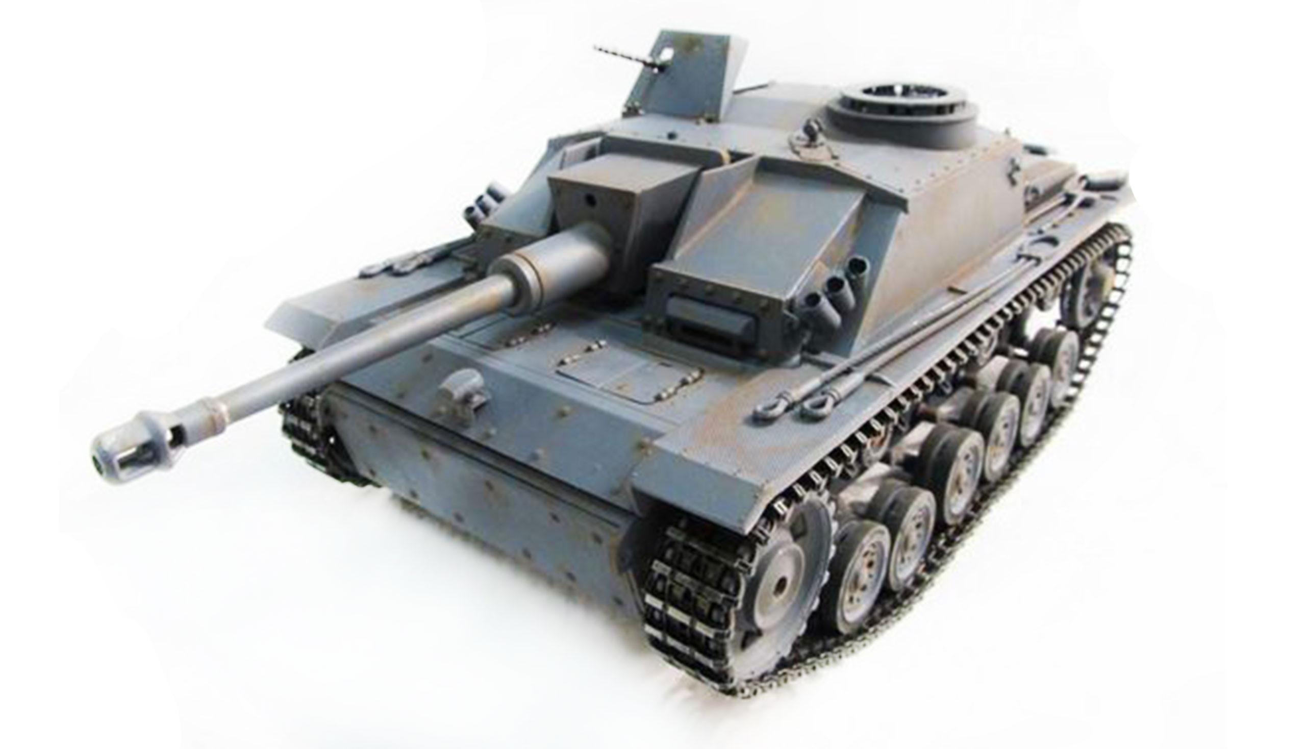 Amewi 23082 - Funkgesteuerter (RC) Panzer - 1:16 - Betriebsbereit (RTR) - Grau - 2,4 GHz