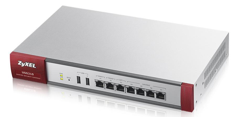 ZyXEL USG210 - 500 Mbit/s - 3.33 A - 37 W - 0 - 40 °C - -30 - 70 °C - 10 - 90%