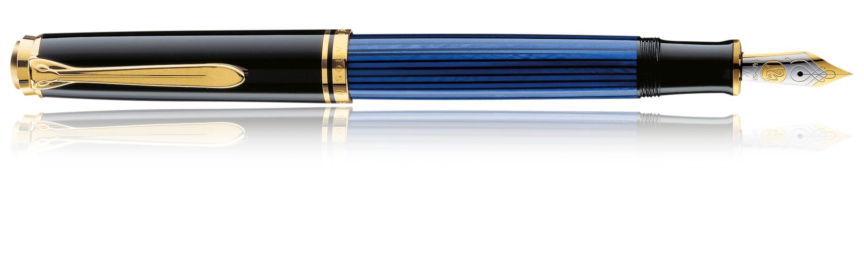 Pelikan Souverän M 400 - Schwarz - Blau - Gold - Gold - 1 Stück(e)