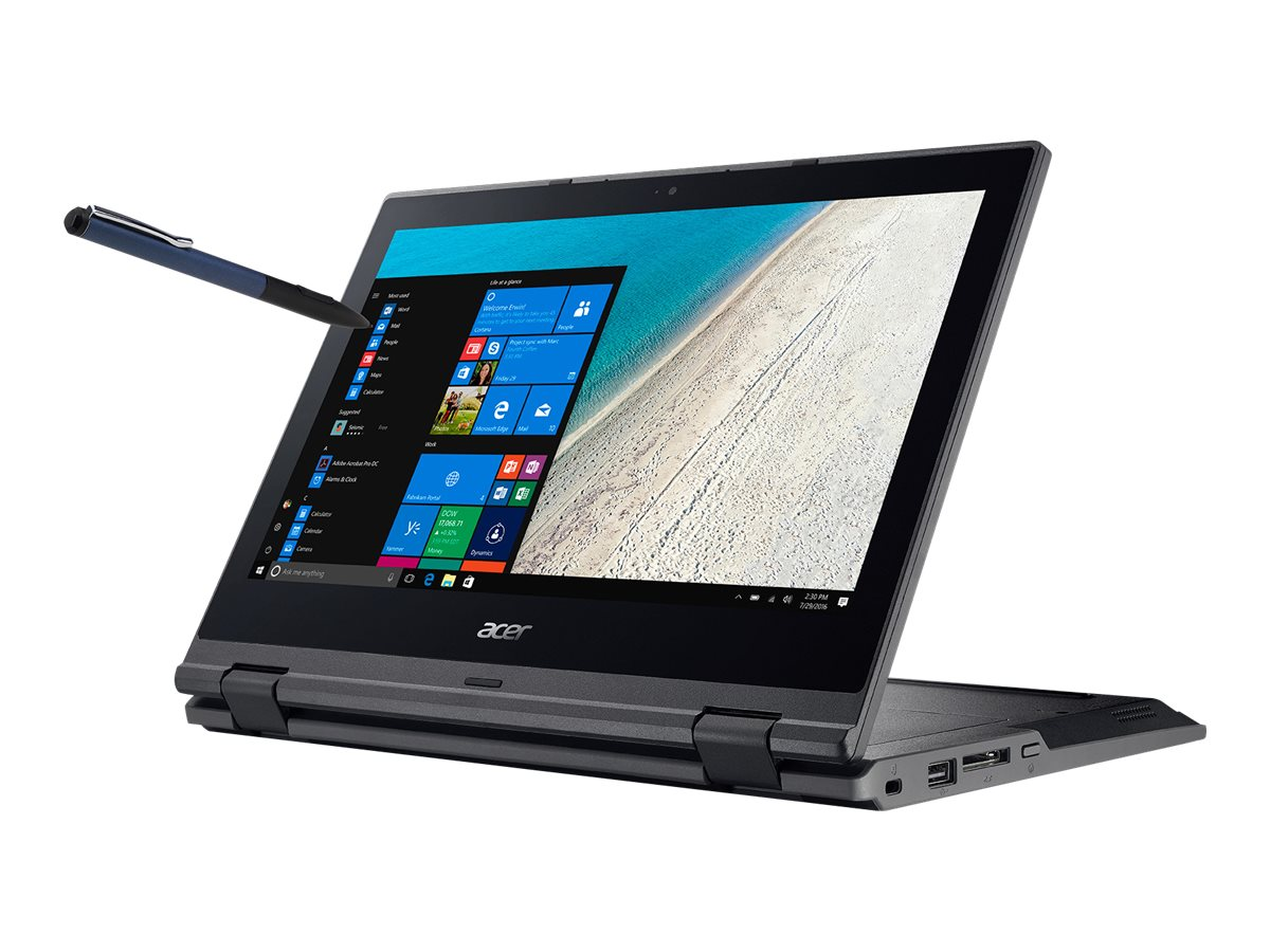 Preview: Acer TravelMate Spin B1 TMB118-G2-RN-C5XB - Flip-Design - Celeron N4100 / 1.1 GHz - Win 10 Pro 64-bit National Academic