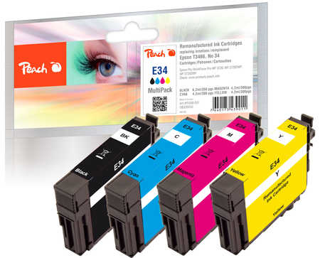 Peach PI200-551 - Kompatibel - Schwarz - Cyan - Magenta - Gelb - Epson - Multi pack - WorkForce Pro WF-3700 Series - WorkForce Pro WF-3720 DW - WorkForce Pro WF-3720 DWF - WorkForce Pro... - 4 Stück(e)