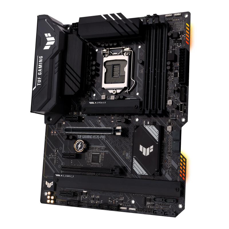ASUS TUF GAMING H570-PRO - Motherboard - ATX - LGA1200-Sockel - H570 - USB-C Gen1, USB 3.2 Gen 1, USB 3.2 Gen 2, USB-C Gen 2x2 - 2.5 Gigabit LAN - Onboard-Grafik (CPU erforderlich)