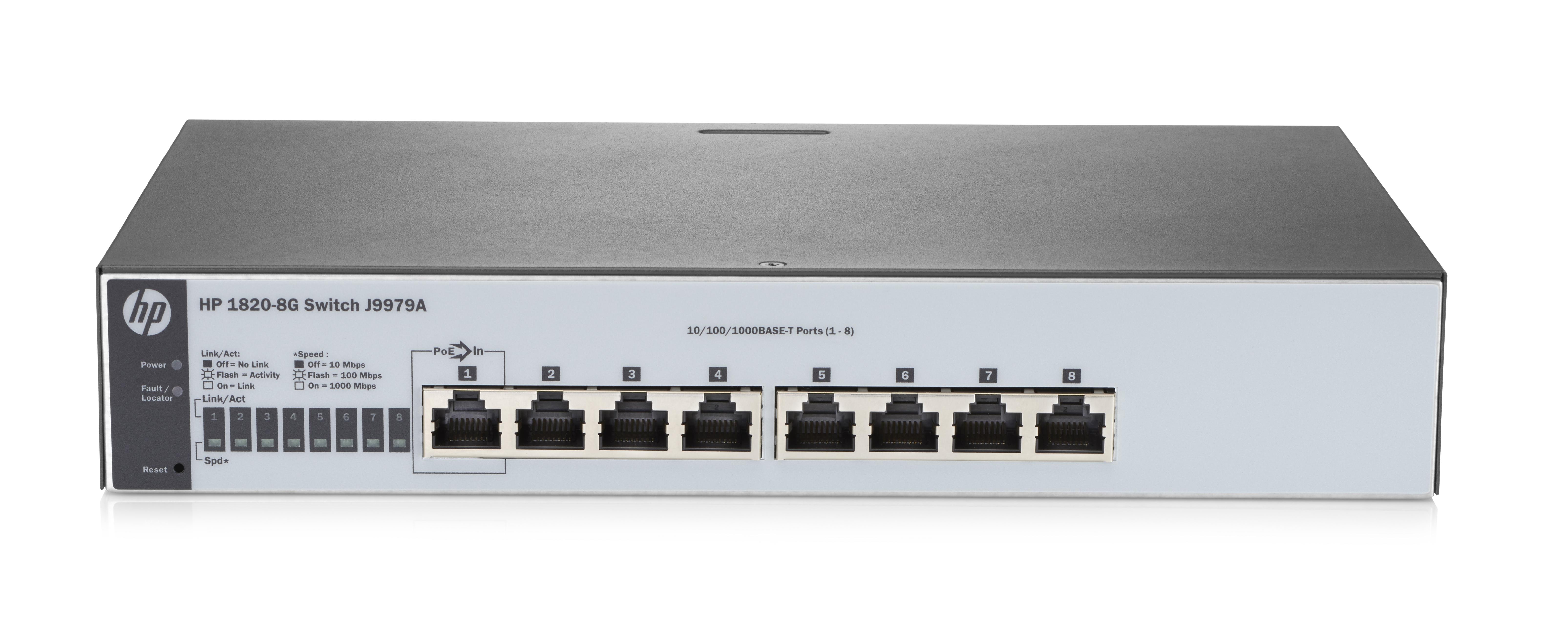 HP Enterprise 18208G Managed L2 Gigabit Ethernet (10/100/1000) Full duplex Rack mounting 1U