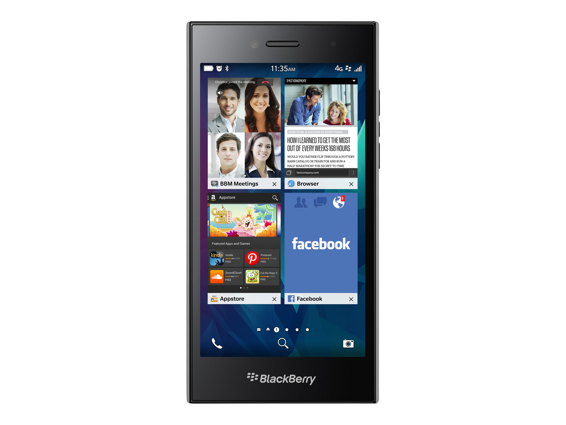 BlackBerry Leap Single SIM 4G 16GB Grau