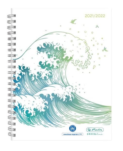 Vorschau: Herlitz Schülerkalender GREENline A5 21/22 Spiralbindung
