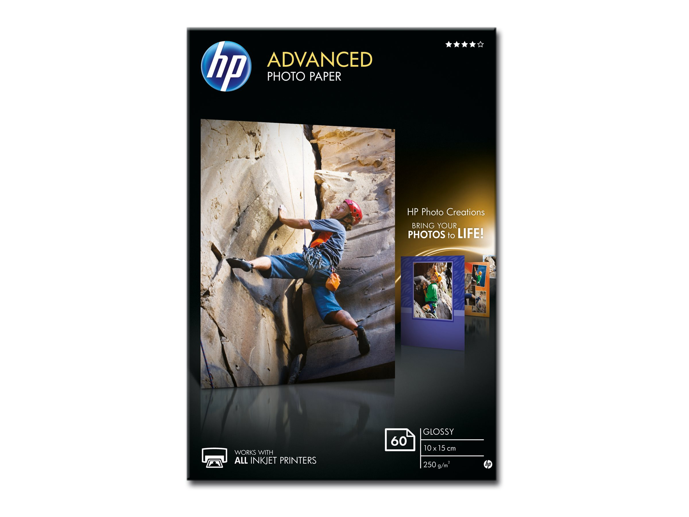 HP Advanced Glossy Photo Paper - Glänzend - 10,5 mil