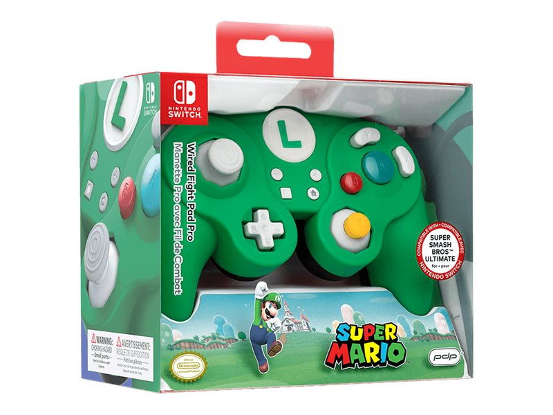 PDP Wired Fight Pad Pro - Luigi - Game Pad - kabelgebunden