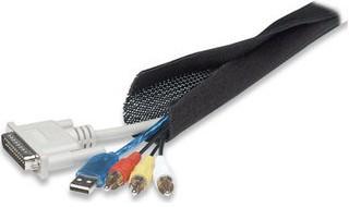 Manhattan FlexWrap Schwarz - Kabelkanal