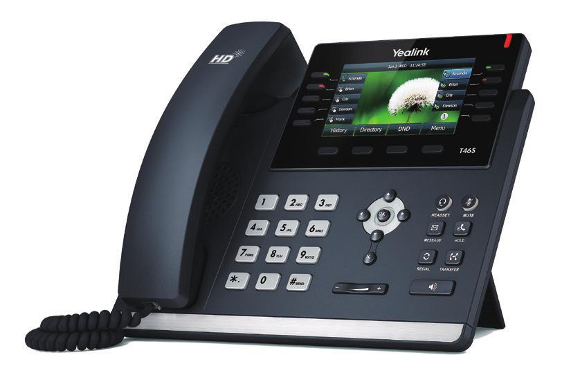 Yealink SIP-T46S Kabelgebundenes Mobilteil 16Zeilen LCD Schwarz IP-Telefon