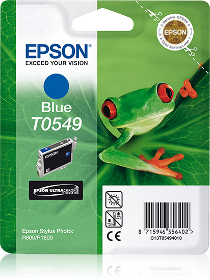 Epson-C13T05494020-Frog-Singlepack-Blue-T0549-Ultra-Chrome-Hi-Gloss-Original thumbnail 2