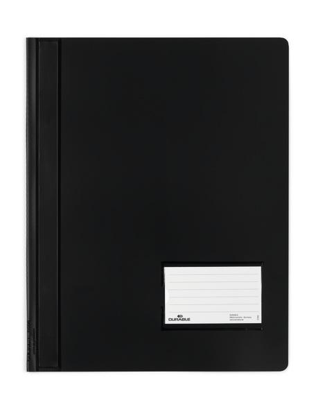 Durable Schnellhefter transluzent - A4 - PVC - Schwarz - Porträt - 1 Taschen - 57 x 90 mm