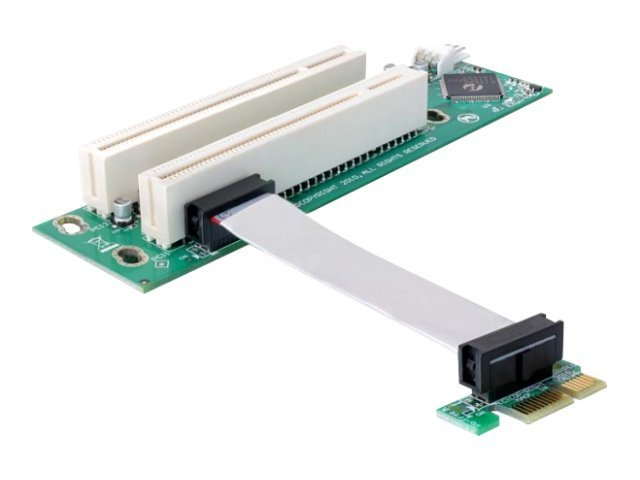 Delock Riser card PCI Express x1 > 2x PCI 32Bit 5 V with flexible cable 9 cm left insertion