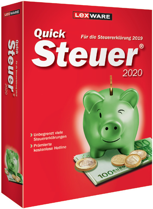 Lexware QuickSteuer 2020 - Box-Pack (Frustration-Free Packaging)