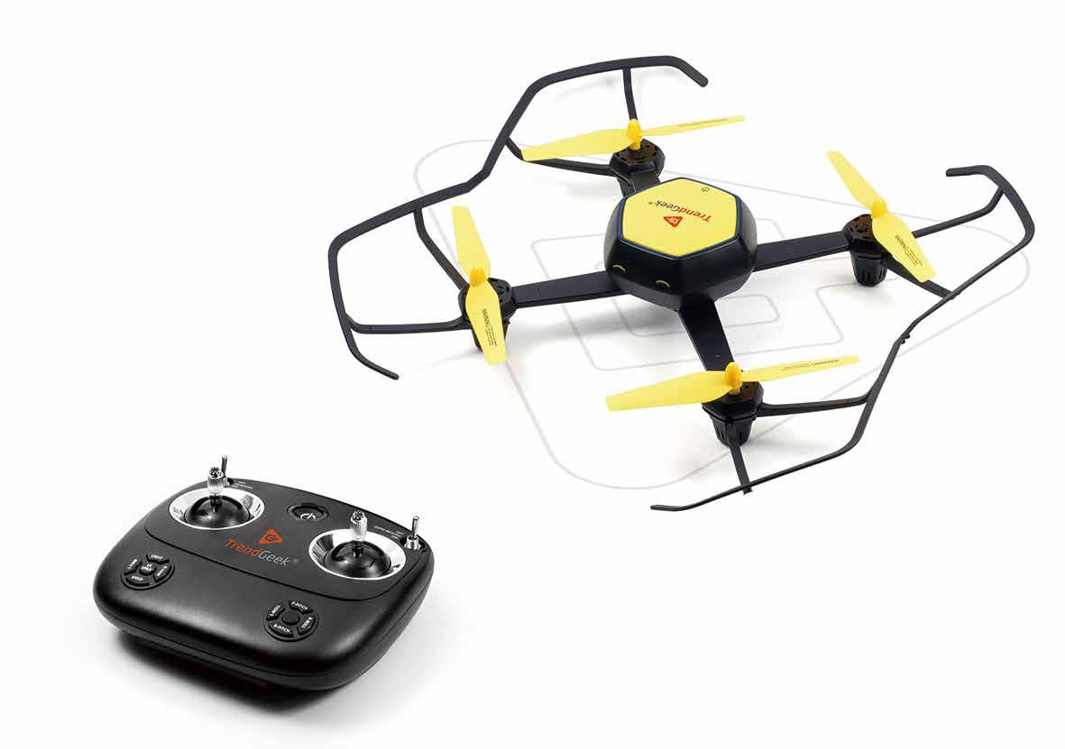 Technaxx TRENDGEEK QUADROTOR DRONE - Quadrocopter - Elektromotor - 4 Rotoren - 4 Kanäle - 2.4 GHz - Gebürstet