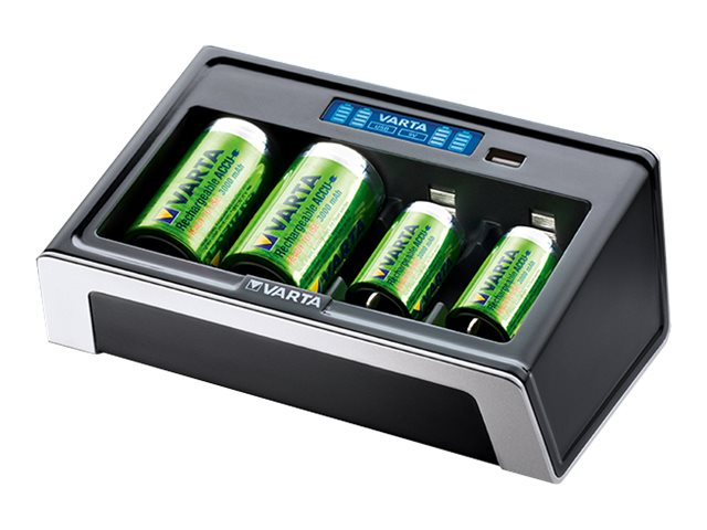Varta LCD Universal Charger - 4 Std. Batterieladegerät - (für 4xAA/AAA/C/D, 1x9V)