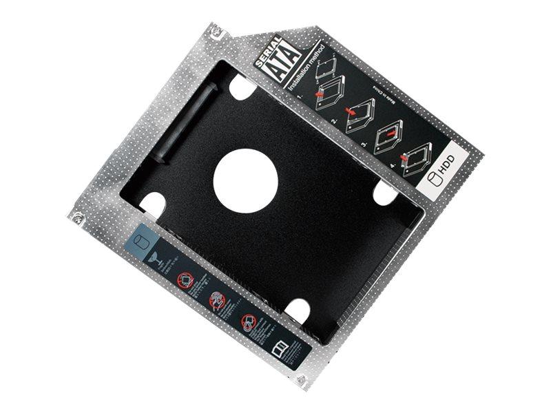 """LogiLink 2nd SATA Festplatten Caddy Adapter - Laufwerksschachtadapter - 5,25"""" Slim Line auf 2,5"""" (13,3 cm Slim Line auf 6,4 cm)"""