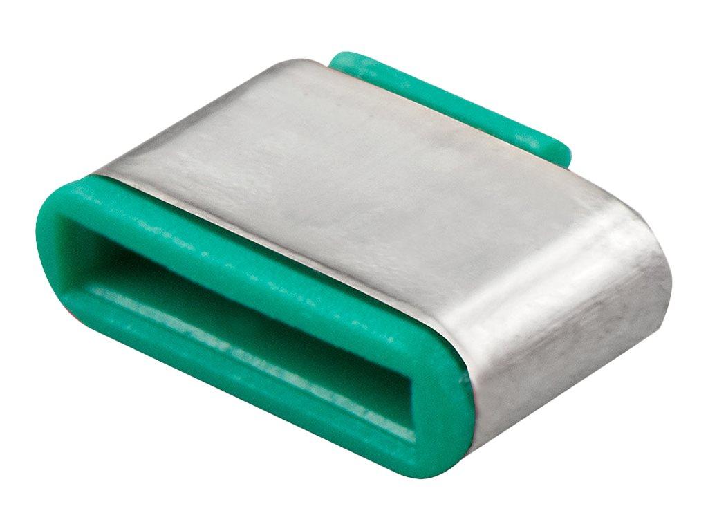 Lindy Schloss für USB-C-Port - grün (Packung