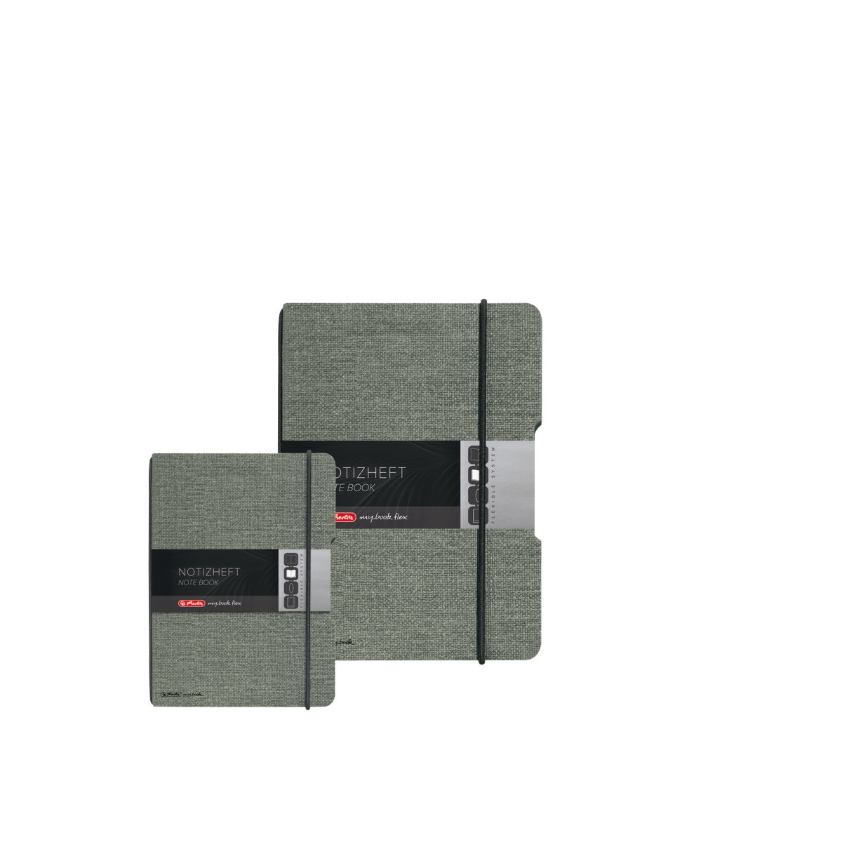 Herlitz 50033706 - Einfarbig - Grau - A5 - 40 Blätter - Erwachsener