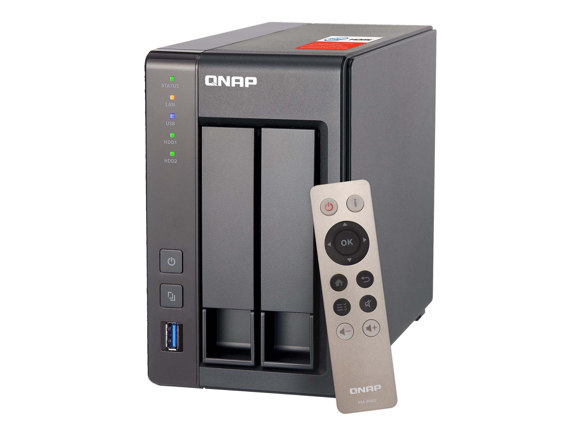 QNAP TS-251+ - NAS-Server - 2 Schächte - SATA 6Gb/s