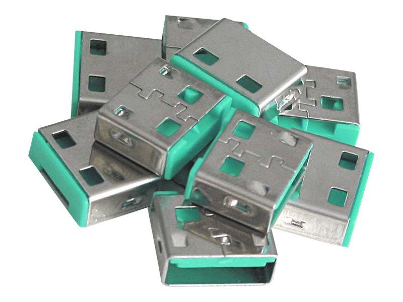 Lindy USB Port Blocker - USB-Portblocker - grün (Packung mit 10)