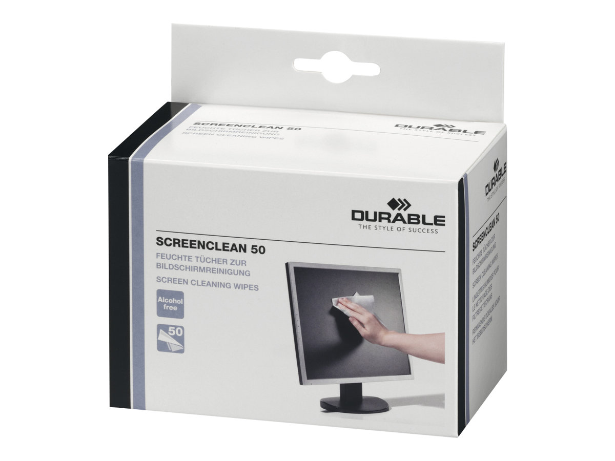 Durable Screenclean 50 - Reinigungstücher (Wipes)