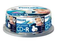 25 x CD-R - 700 MB ( 80 Min ) 52x - mit Tintenstrahldrucker bedruckbare Oberfläche
