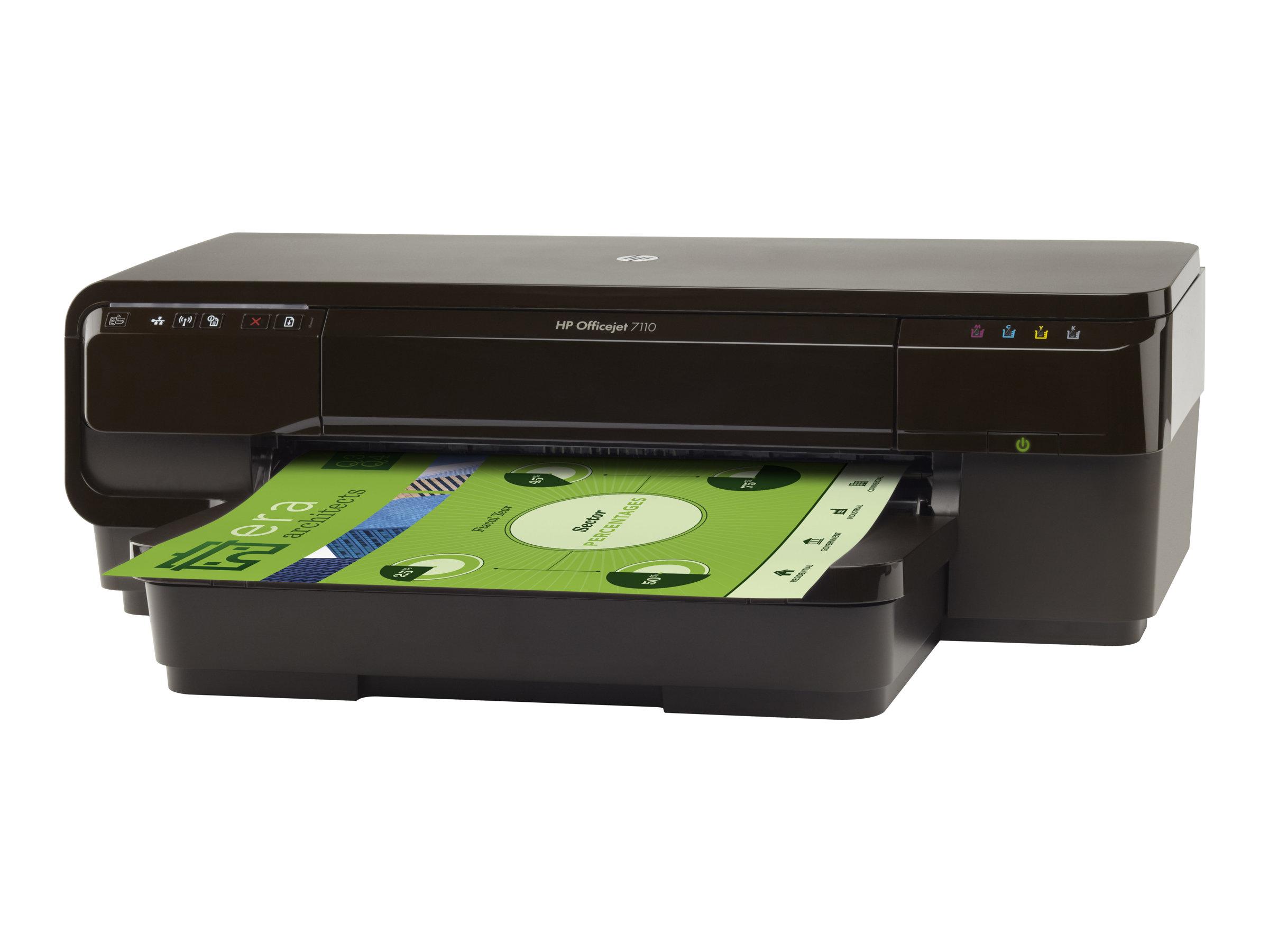 HP Officejet 7110 Wide Format ePrinter - Drucker - Farbe - Duplex - Tintenstrahl - A3 - 600 x 1200 dpi - bis zu 8 Seiten/Min. (einfarbig)/
