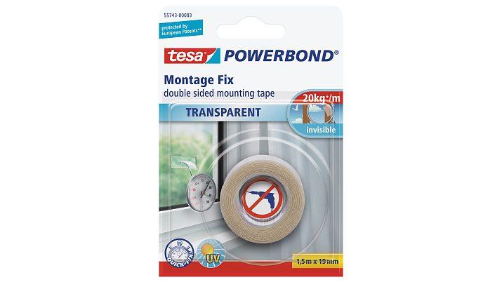 Tesa 55743-00001 - Montageband - Transparent - 1,5 m - Indoor - Glas - Kunststoff - 0,2 kg/cm