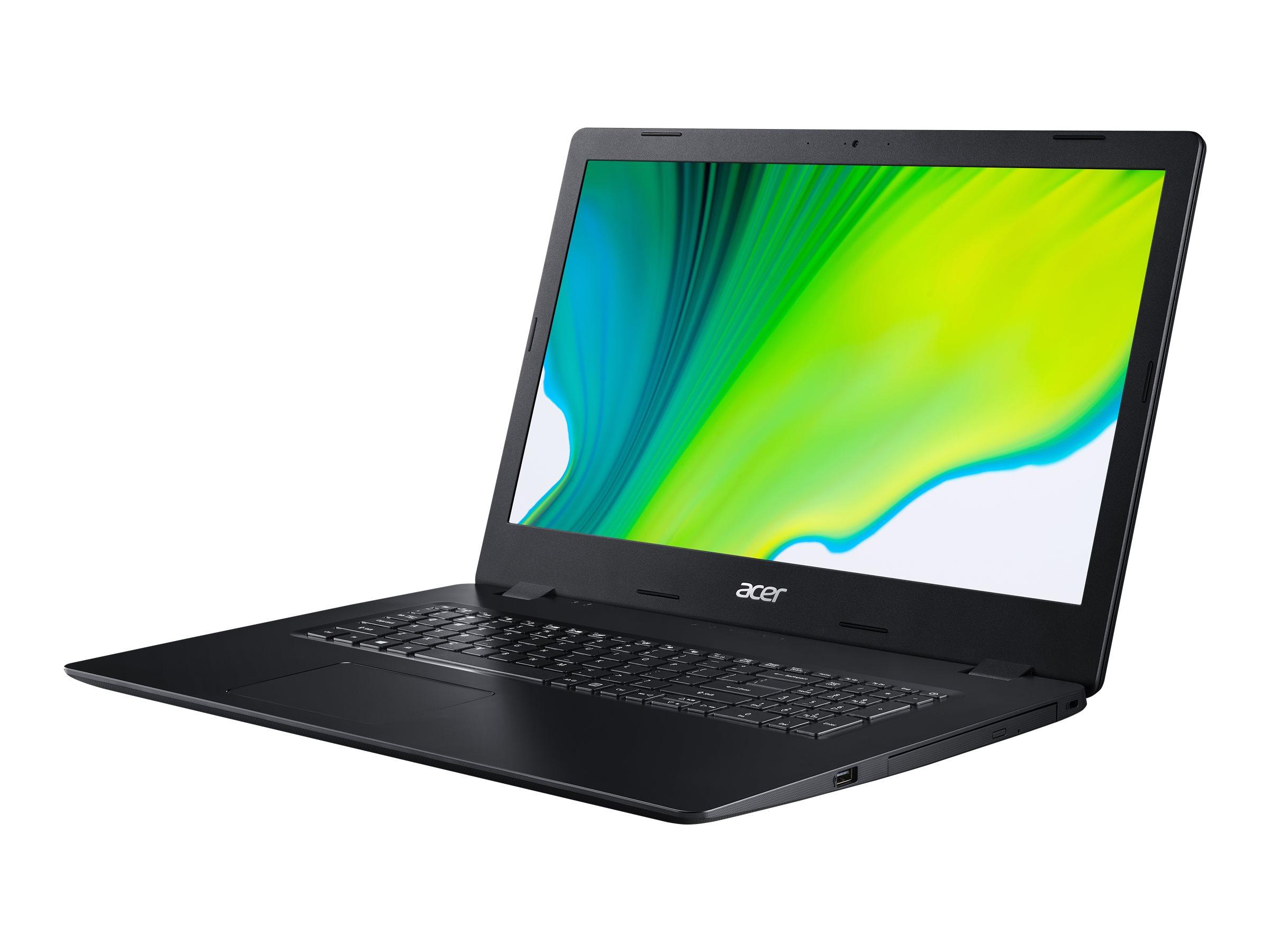 Acer Aspire 3 A317-52-36F4 - Core i3 1005G1 / 1.2 GHz - Win 10 Home 64-Bit - 8 GB RAM - 256 GB SSD - DVD-Writer - 43.9 c