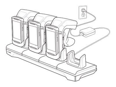 Zebra 4-Slot Charging Cradle - Batterieladegerät