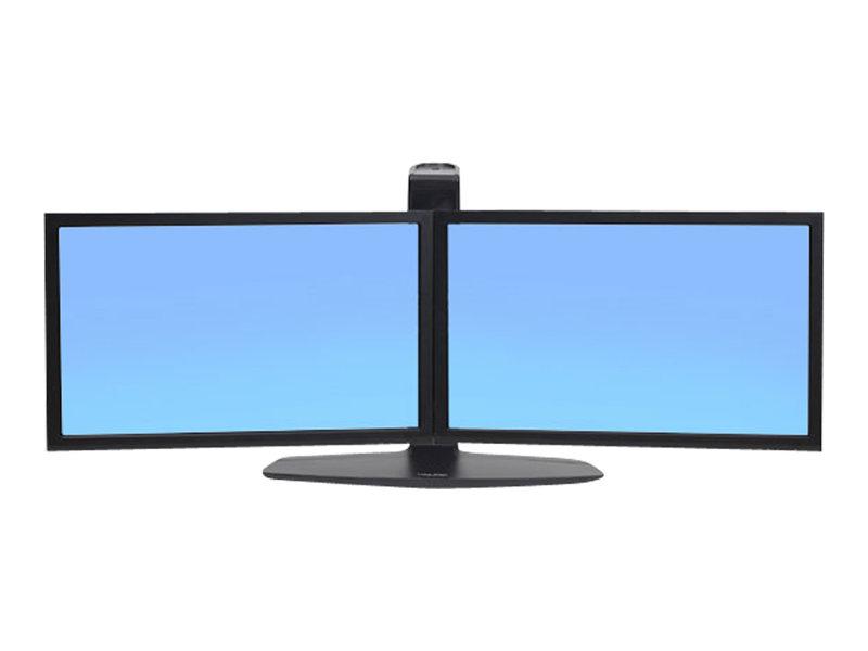 Ergotron Neo-Flex Dual LCD Monitor Lift Stand - Aufstellung für 2 LCD-Displays - Schwarz - Bildschirmgröße: bis zu 61 cm (bis zu 24 Zoll)