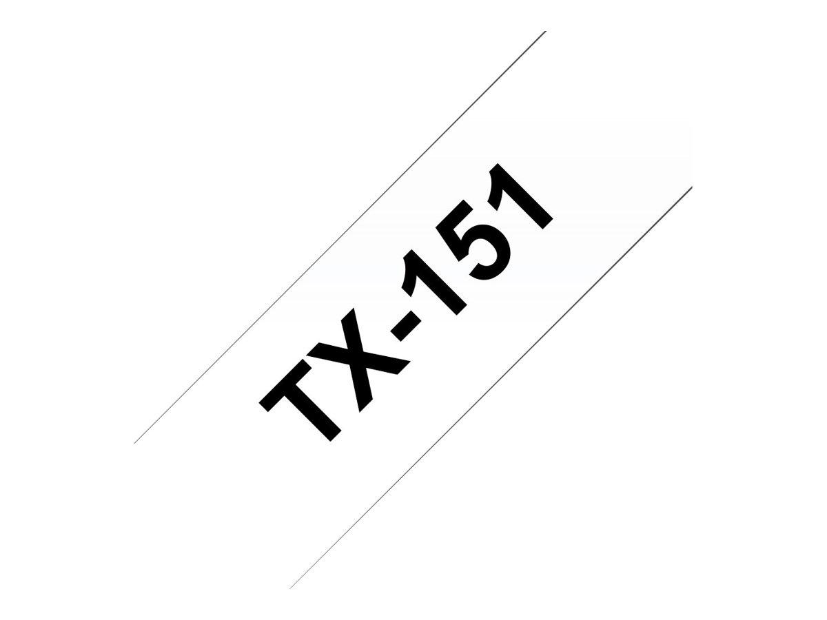 Brother TX151 - Schwarz auf durchsichtig - Rolle (2,4 cm x 8 m)