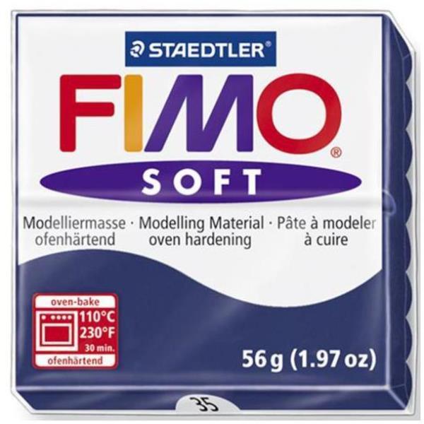 Vorschau: STAEDTLER FIMO soft - Knetmasse - Blau - 110 °C - 30 min - 56 g - 55 mm