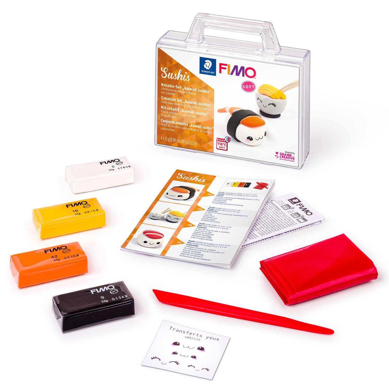 STAEDTLER FIMO Sushis - Knetmasse - Schwarz - Orange - Weiß - Gelb - Erwachsene - 4 Stück(e) - 4 Farben - 110 °C