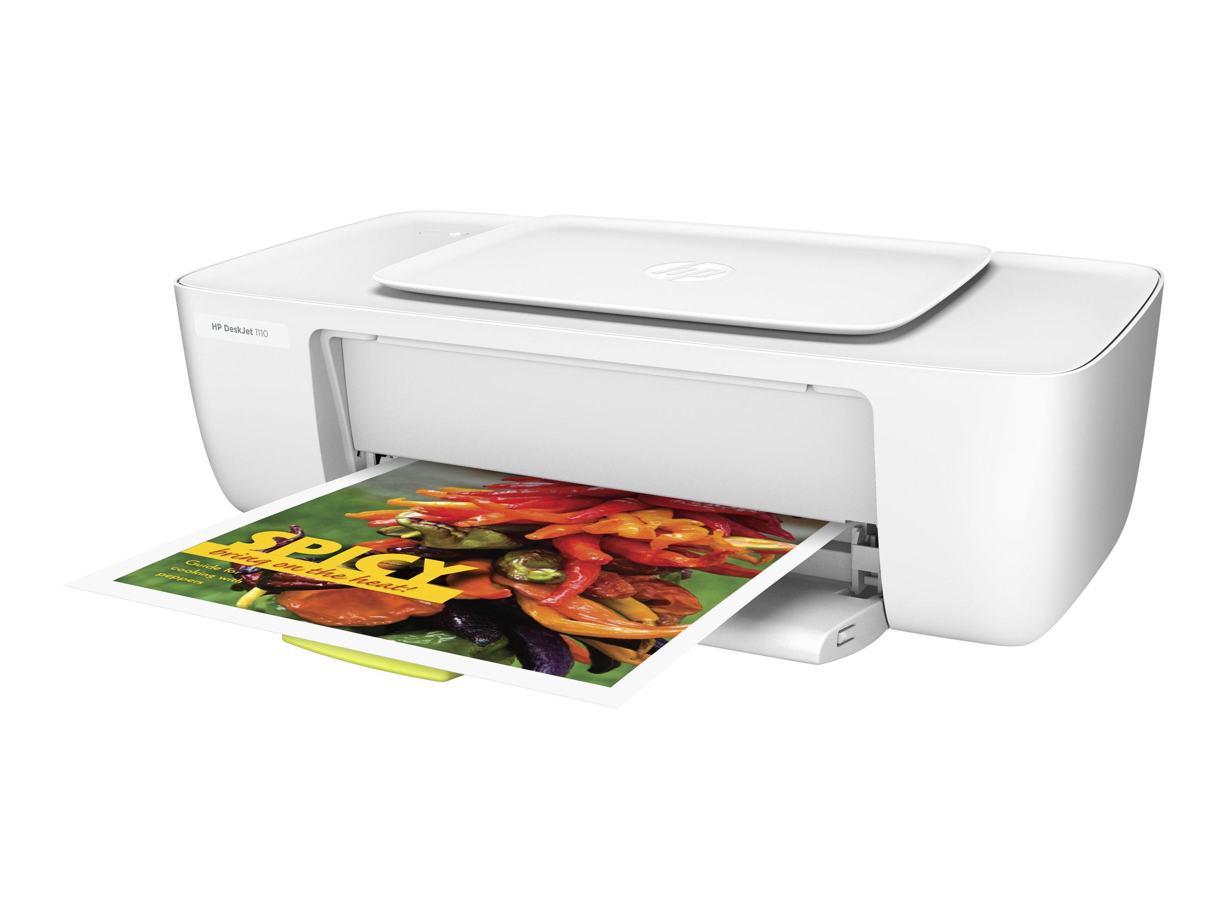 HP Deskjet 1110 - Drucker - Farbe - Tintenstrahl - A4 - 1200 x 1200 dpi - bis zu 7.5 Seiten/Min. (einfarbig)/