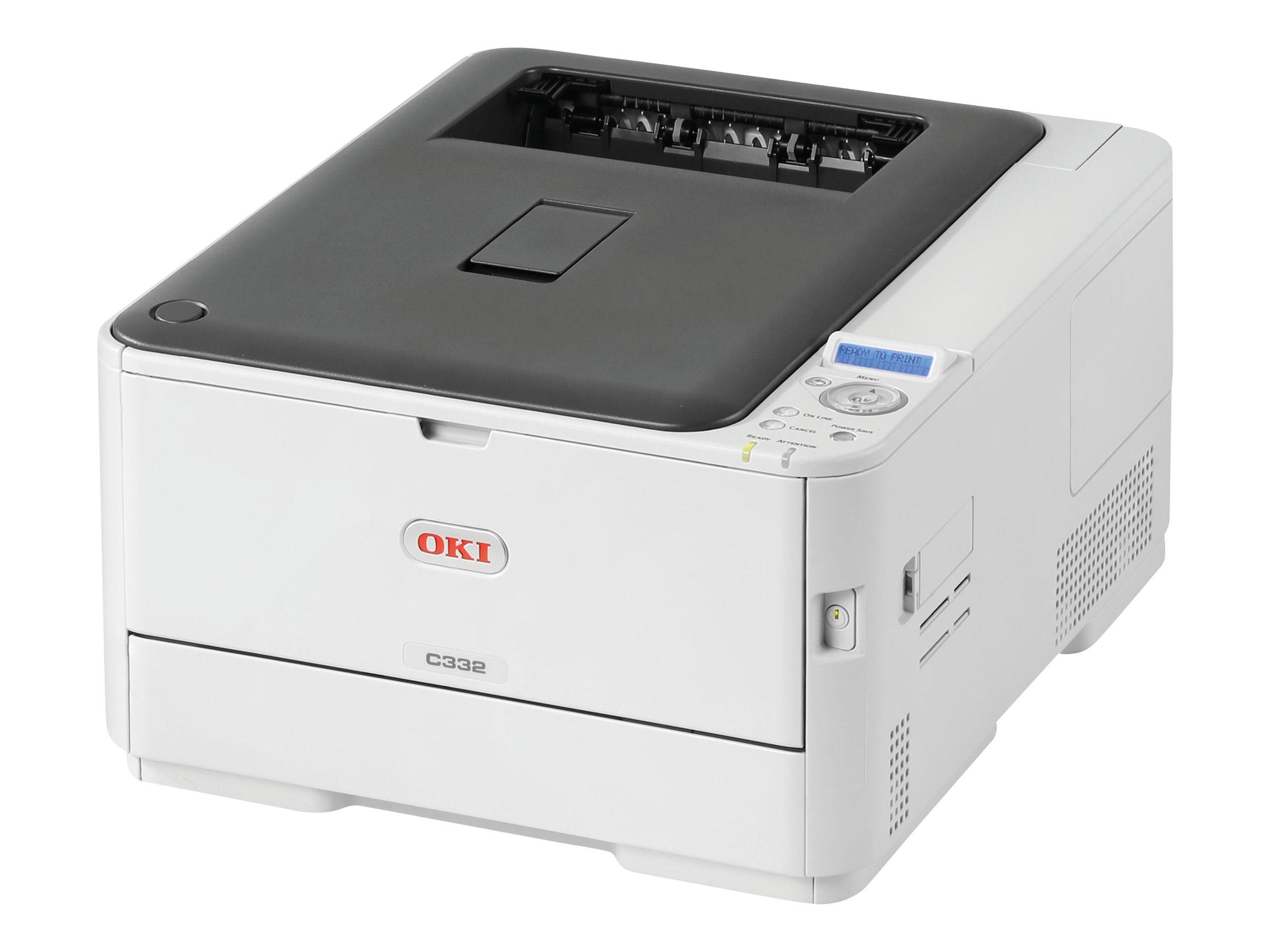 OKI C332dn - Drucker - Farbe - Duplex - LED - A4 - 1200 x 600 dpi - bis zu 30 Seiten/Min. (einfarbig)/