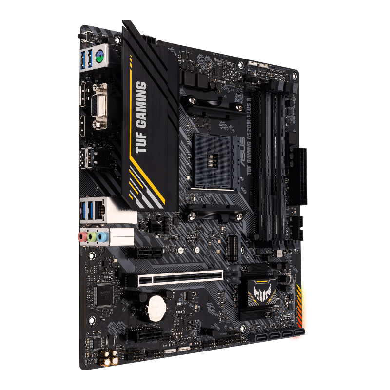 ASUS TUF GAMING A520M-PLUS II - Motherboard - micro ATX - Socket AM4 - AMD A520 - USB 3.2 Gen 1 - Gigabit LAN - Onboard-Grafik (CPU erforderlich)