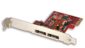 Lindy SATA 3 6Gbit/s Karte 2 externe Ports PCIe - Zubehör PC