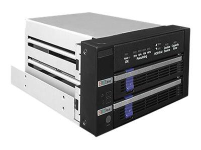 """Vorschau: Icy Dock FatCage MB901SPR-B - Internes RAID-Gehäuse mit Datenanzeige, Netzanzeige - 2,5"""" / 3,5"""" gemeinsam genutzt (6,4 cm/8,9 cm gemeinsam genutzt)"""